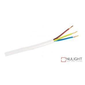 Cable White 3-Core Round Per Metre ORI
