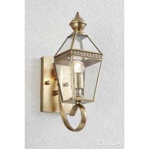 Oran Park Classic Outdoor Brass Wall Light Elegant Range Citilux