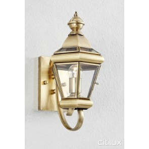 Orchard Hills Traditional Outdoor Brass Wall Light Elegant Range Citilux