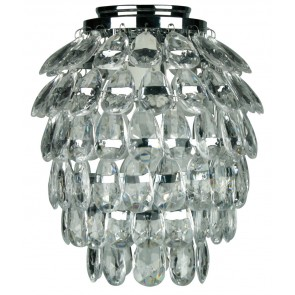 Bling DIY Flush Mount in Chrome / Faux Crystal Oriel Lighting