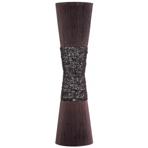 Boto Wicker Floor Lamp in Chocolate Oriel