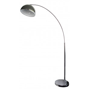 Dome ARC Floor Lamp in Chrome Oriel