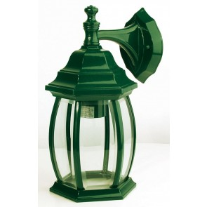 Highgate Down Exterior Wall Light in Green Oriel Lighting