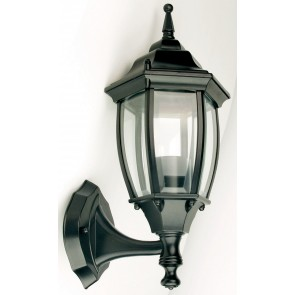 Highgate Up Exterior Wall Light in Black Oriel Lighting