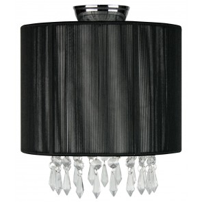Karella DIY Flush Mount in Black Oriel Lighting