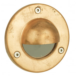 Rocco Hooded LV Exterior Recessed Light in Copper Oriel Lighting