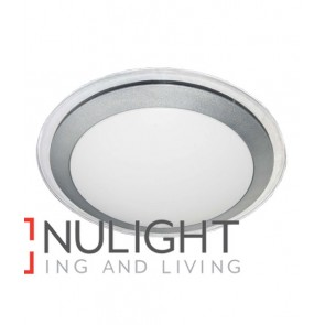 OYSTER LED SIL/CLR TRIM  Round 3000K 28W 120D 430mm IP44 (1400 Lumens) CLA