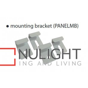 SET 4 SS Mounting BRACKETS FOR LED TBAR PANELS (GLOSS WHITE COLOUR) FLUSH TO CEILING CLA