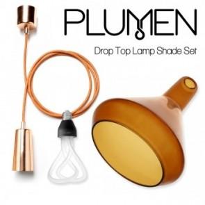 Plumen Drop Top Lamp Shade (A) Set (Metalic drop cap)