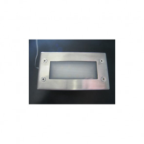 Rectangular Stainless Steel LED Courtesy Light Prisma