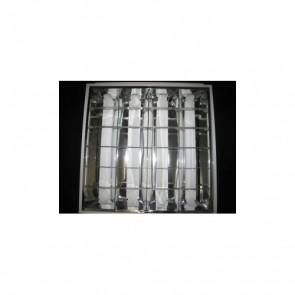 Reflector Light Fitting for 4 LED Light Tubes Prisma