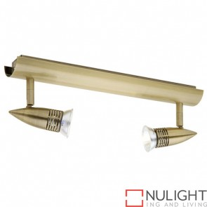 Proton 2 Light Rail Antique Brass COU