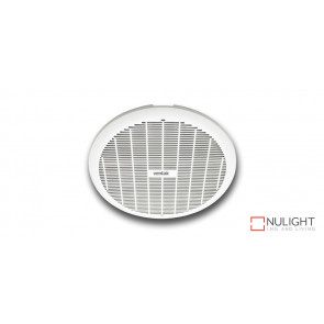 GYRO 200 - 8 inch  Round Plastic Grille - Ball bearing motor- Plug and Cable included -  3 year warranty - White VTA