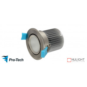 10w Premium LED with Gimble Satin Chrome Downlight VTA