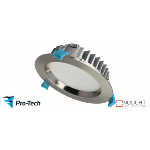 25w Premium LED (150mm) Satin Chrome Downlight VTA
