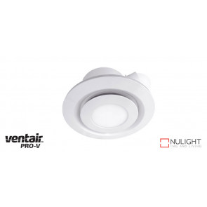 AIRBUS 200 - 200mm Quality Side Ducted Exhaust Fan With 10w LED Panel (642Lm) - Extra Low Profile - Round - White VTA