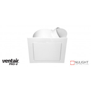 AIRBUS 250 - 250mm Quality Side Ducted Exhaust Fan - Extra Low Profile - Square - White VTA