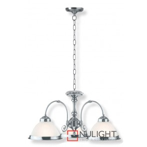 American Diner 3-Light Pendant 60W Satin Chrome ASU