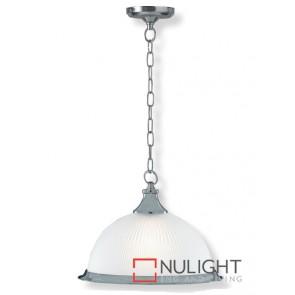 Decor 1 Light Pendent American Diner Satin Chrome ASU