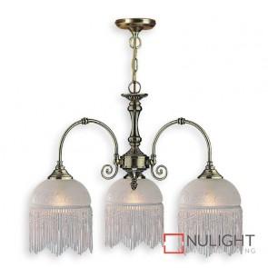 Decor 3 Light Pendant Victoriana Antique Brass ASU