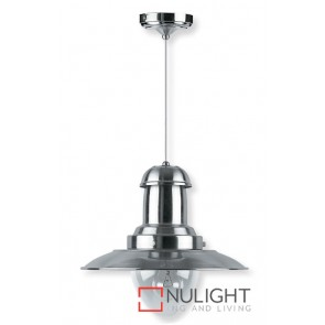 Decor 1 Light Pendant 100W Satin Chrome ASU