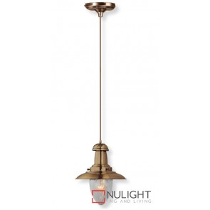Decor 1 Light Pendant 60W Antque Brass ASU