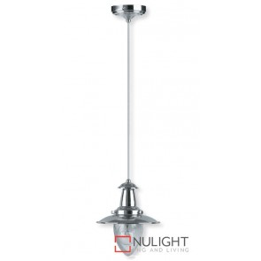 Decor 1 Light Pendant 60W Satin Chrome ASU