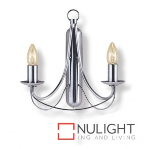 Decor 2 Light Wall Birdcage Satin Chrome ASU