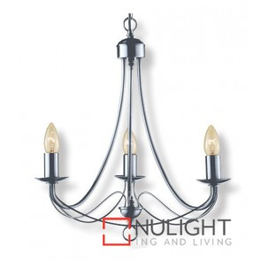Decor 3 Light Pend Birdcage Satin Chrome ASU