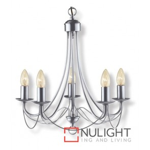 Decor 5 Light Pend Birdcage Satin Chrome ASU