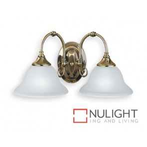 Decor 2 Light Wall Antique Brass ASU