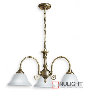Decor 3 Light Pend Antique Brass ASU