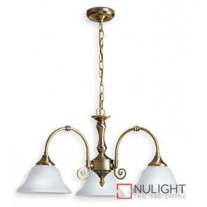 Decor 3 Light Pend Antique Brass ASU