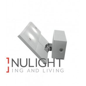 WALL INTERNAL Surface Mounted CITY LED MATT White Rectangular UPLIGHT 90D ADJ 6W 120D 3000K (244 Lumens) CLA