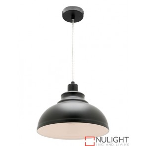 Risto 1 Light Pendant Black COU