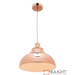 Risto 1 Light Pendant Copper COU