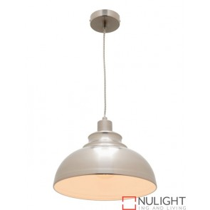 Risto 1 Light Pendant Satin Chrome COU