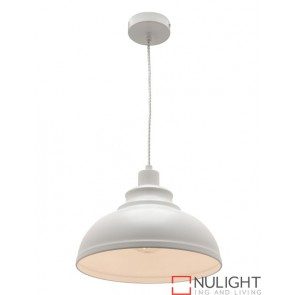 Risto 1 Light Pendant White COU