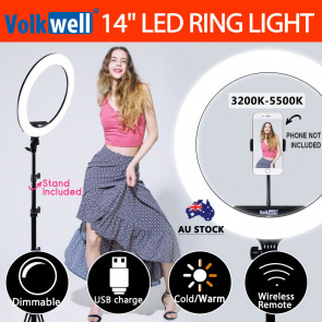 14 inches 5500K Dimmable Diva SMD LED Ring Light Diffuser Stand Make Up Studio Lighting