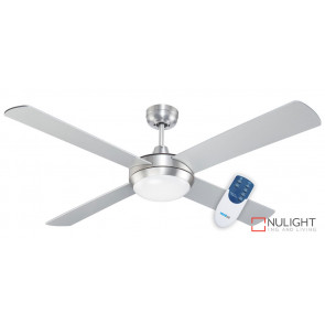 ROYALE - 52 inch 1300mm Cast Alloy Motor Housing - 4 x Timber Blade - Remote and LED Light fitting - Silver VTA