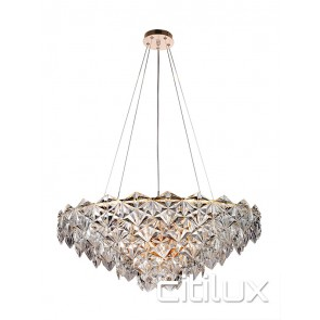 Saba 9 Lights Chandelier Rose Gold Citilux