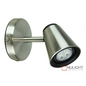 Zoom Led Single Spot Br. Steel ORI