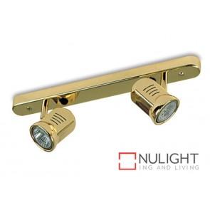 Spot Halogen Double Bar Switch Brass Gu ASU