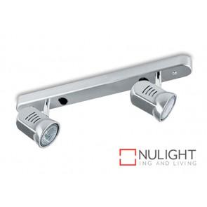 Spot Halogen Double Bar Switch Satin Chrome Gu ASU