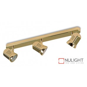 Spot Halogen Triple Bar Brass Gu ASU