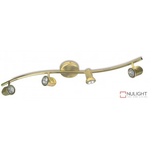 Spot Halogn Four Wavebar Brass ASU