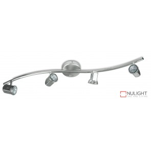 Spot Halogen Four Wavebar Satin Chrome ASU