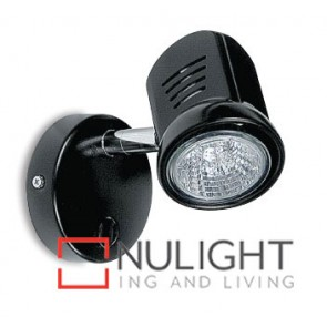 Spot Halogen Single Pan Switch Black Gu ASU
