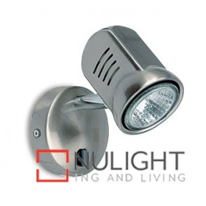 Spot Halogen Single Pan Switch Satin Chrome ASU