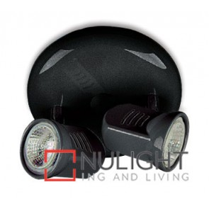 Spot Halogen Double Pan Black Gu ASU